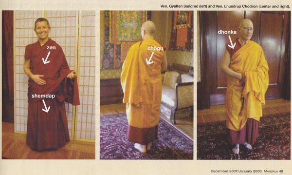 Tibeti szerzetesek a visszérről