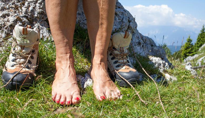 visszérrel a lábujjak elkékültek