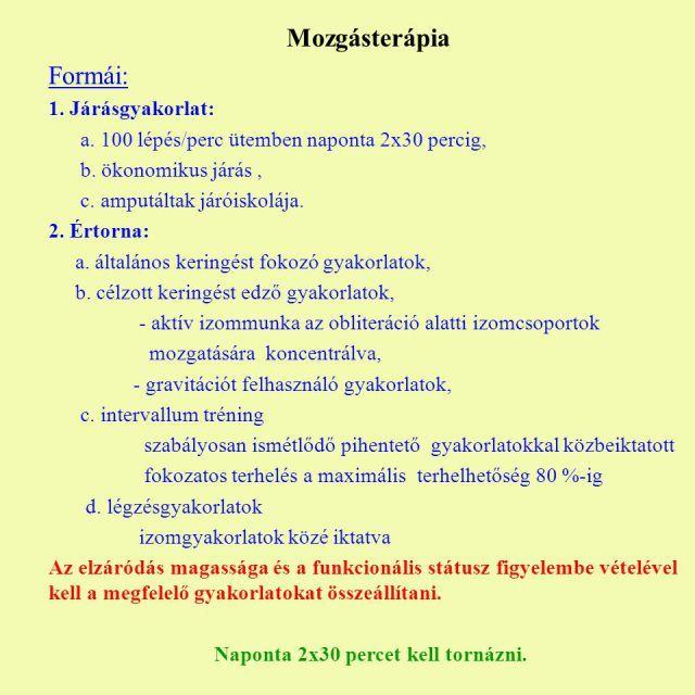 gyakorlatok otthon fogyás visszerek esetén)