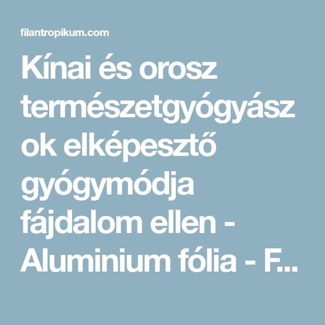 alumínium fólia visszér ellen