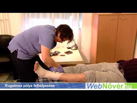 Hogyan kell kötni egy rugalmas kötést a lábon